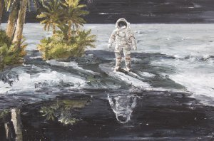 Landscape with Astronaut
