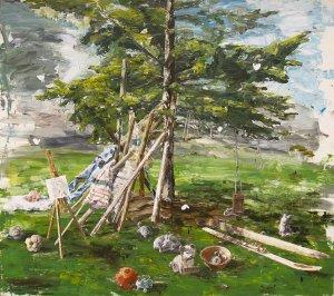 Nature morte à l'arbre (Paysage de Saint-Martin)