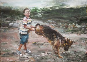 Study of a Boy with a Dog