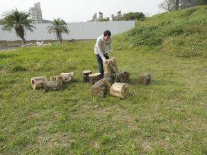 A log